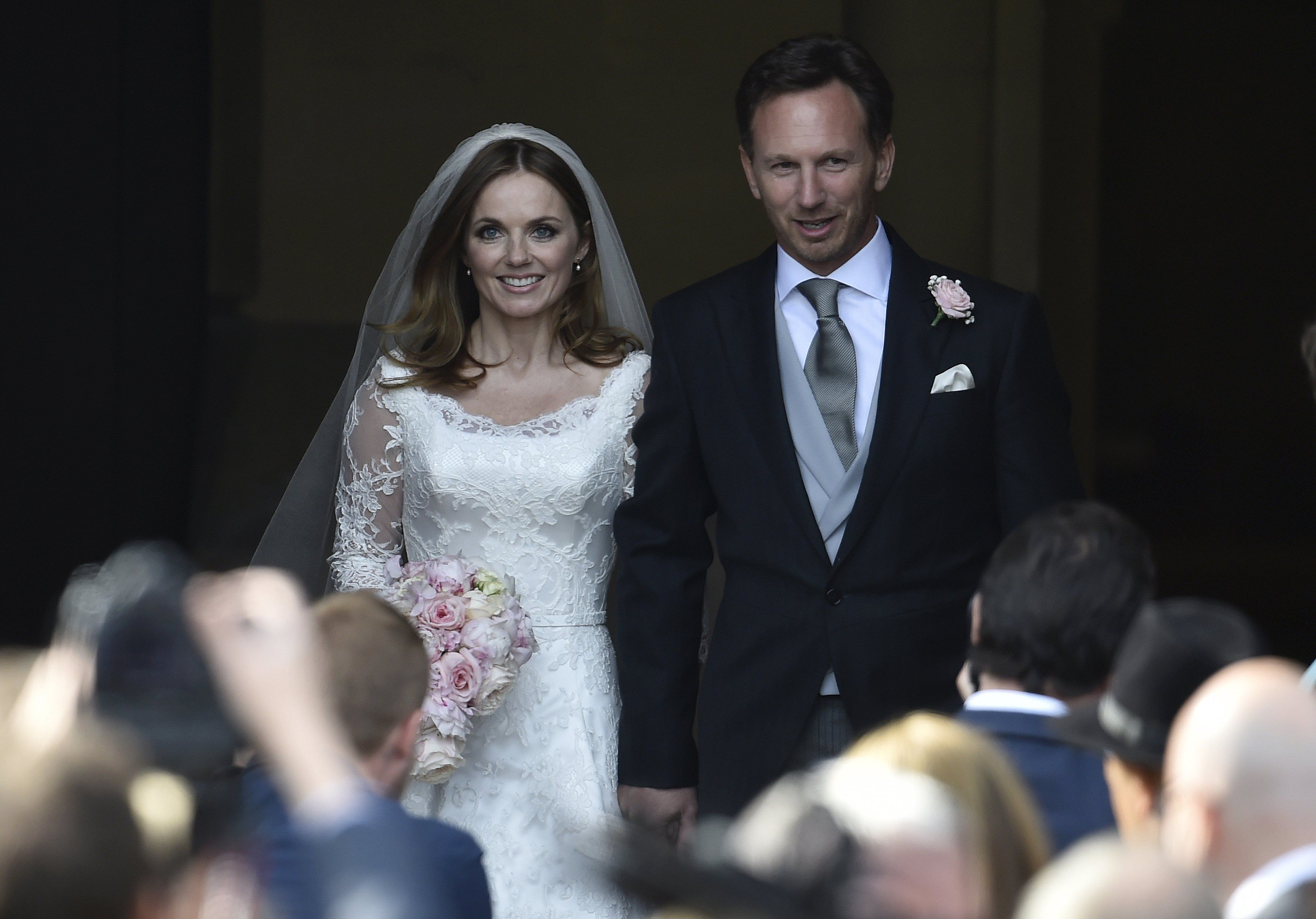 Geri Halliwell e seu marido Christian Horner / Toby Melville/Reuters