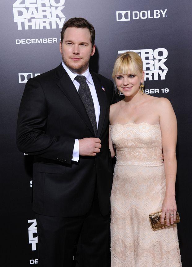 Chris Pratt e Anna Faris em premiação