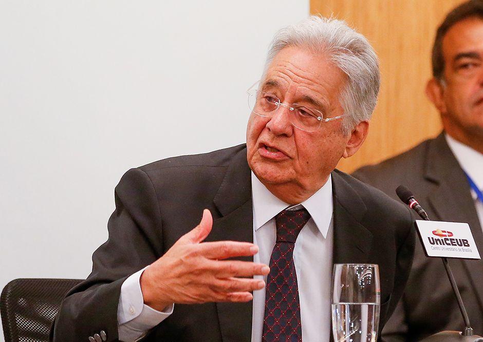 Fernando Henrique Cardoso durante palestra realizada em Brasília / Pedro Ladeira/Folhapress