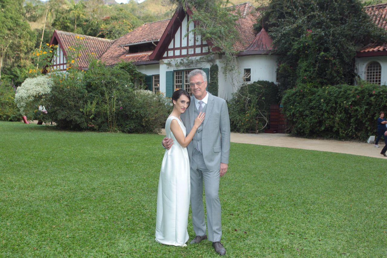 Maria Prata e Pedro Bial celebram união / Marcello Sá Barretto/AgNews