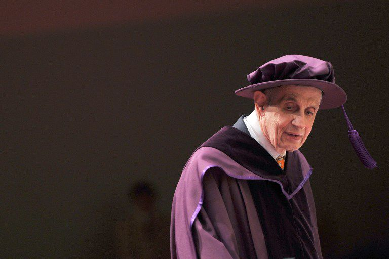Vencedor do Nobel inspirou Uma Mente Brilhante / Aaron Tam/AFP