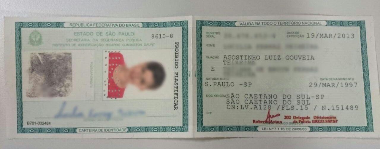 RG tem marca d'água, que identifica o documento original / Agostinho Teixeira/Rádio Bandeirantes