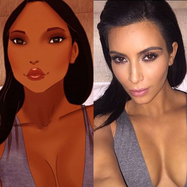 Princesas são colocadas na pele de Kim Kardashian / Divulgação/Isaiah Stephens