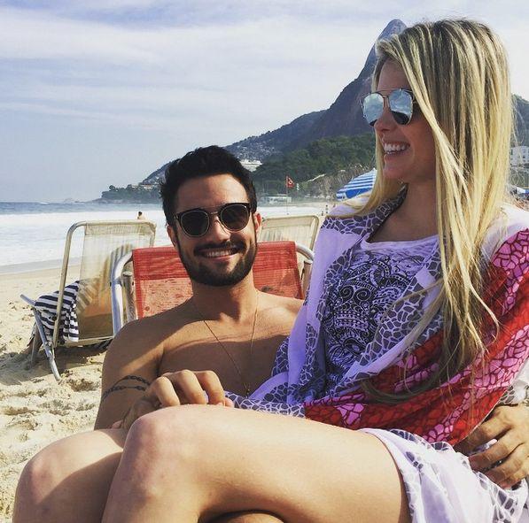 Evans apareceu em clima de intimidade com o namorado / Divulgação/Instagram