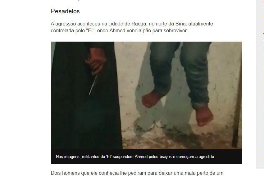 Imagens mostram adolescente sendo espancado, eletrocutado e pendurado pelos punhos / Reprodução BBC