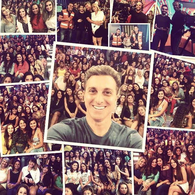 Luciano Huck faz selfie em gravação / Divulgação/Instagram