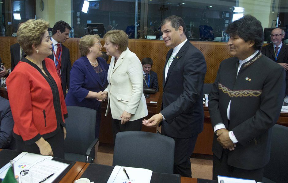 Dilma fala sobre livre-comércio na 2ª Cúpula União Europeia-Celac / REUTERS/Yves Herman
