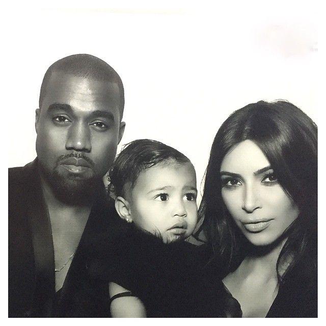 Kanye West, North West e Kim Kardashian / Divulgação/Instagram