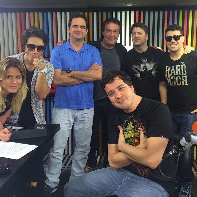 Rafael Cortez posa com integrantes do Pânico na Rádio / Divulgação/Instagram