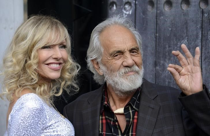 O comediante Tommy Chong e sua mulher, Shelby Chong / Phil McCarten/Reuters