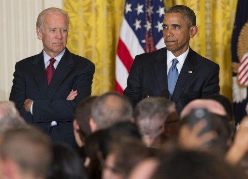 Barack Obama é interrompido por manifestante durante discurso na Casa Branca / Saul Loeb/AFP