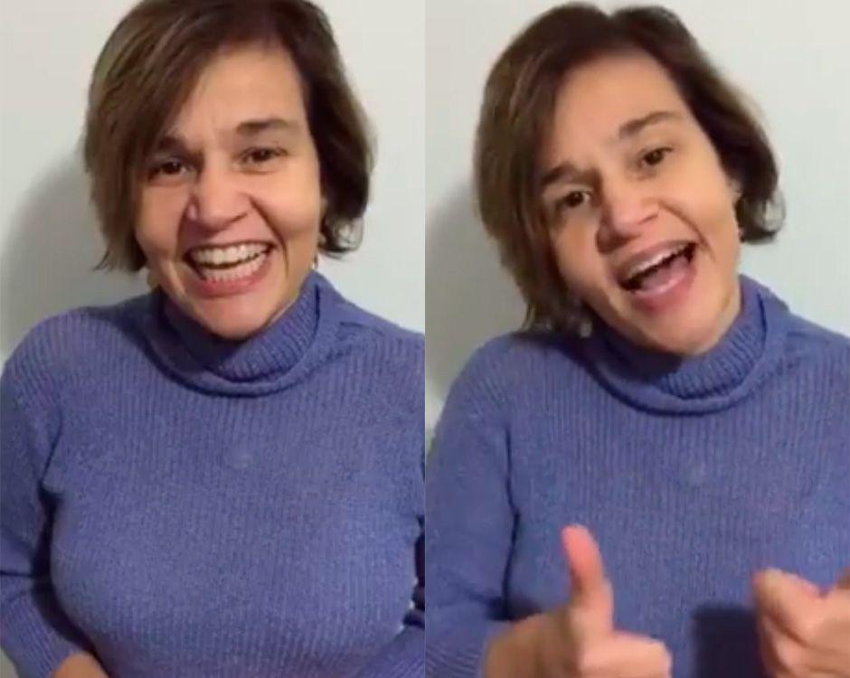 Claudia Rodrigues publicou um vídeo dando a notícia / Reprodução/Facebook