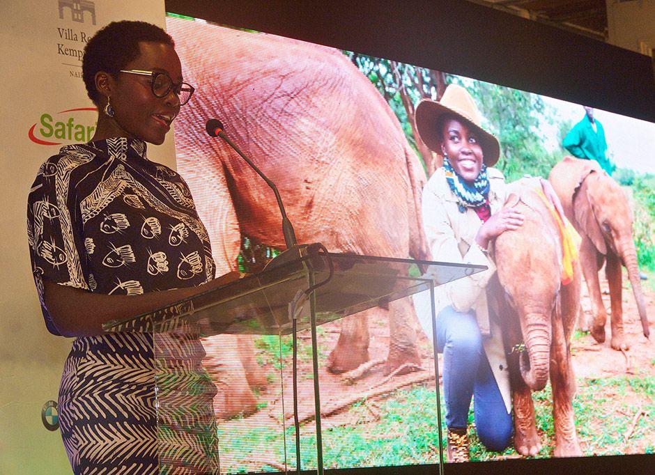 Lupita Nyong'o abraça luta contra caça de elefantes / Tony Karumba/AFP