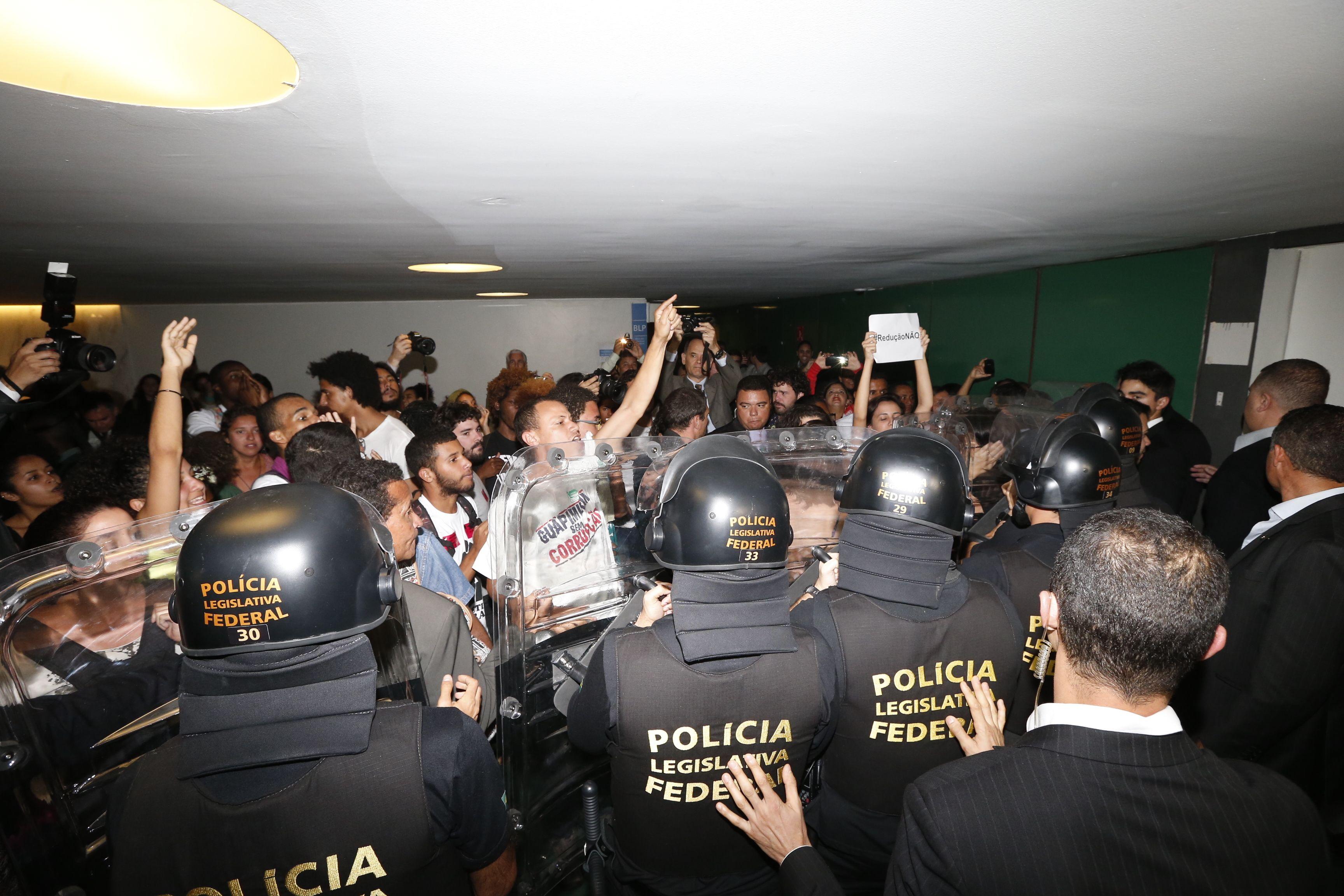 Confusão marcou início da sessão / Pedro Ladeira/Folhapress