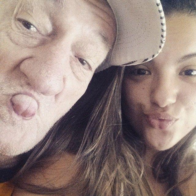 Russo e a neta Bruna Bergamini / Divulgação/Instagram