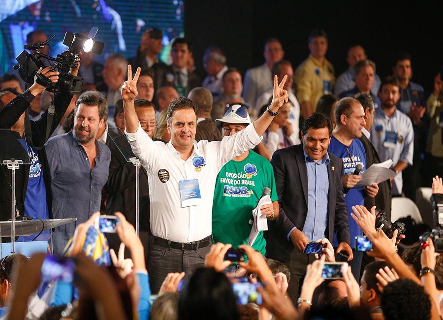 Aécio é mais uma vez eleito presidente do PSDB / Pedro Ladeira/Folhapress