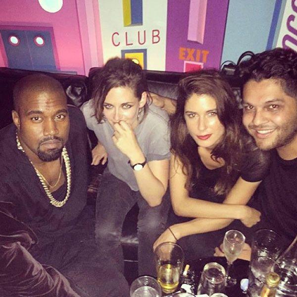 Atriz se mostra tímida na foto com Kanye / Divulgação/Instagram