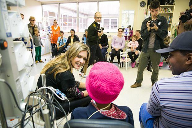 Fernanda Lima conversou com pacientes