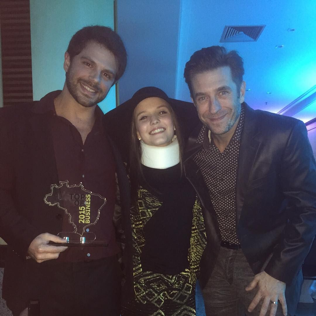 Duda Nagle, Larissa Manoela e Alexandre Barros / Divulgação/Instagram