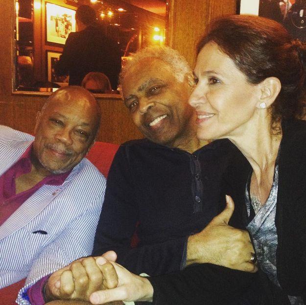 Gilberto Gil divulgou foto com Quincy Jones / Divulgação/Instagram