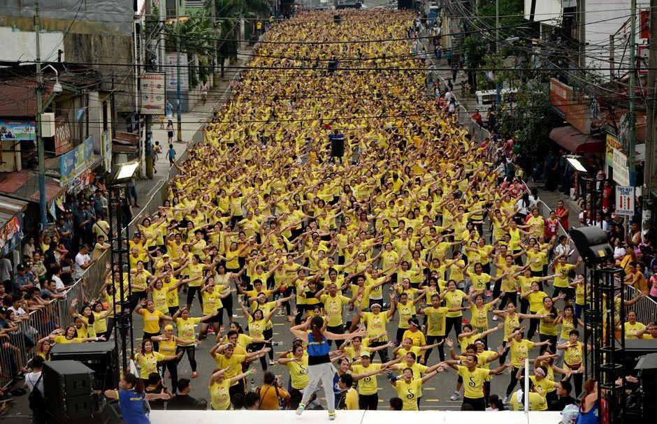 12.975 mil pessoas se reuniram para bater recorde / AFP PHOTO / NOEL CELIS