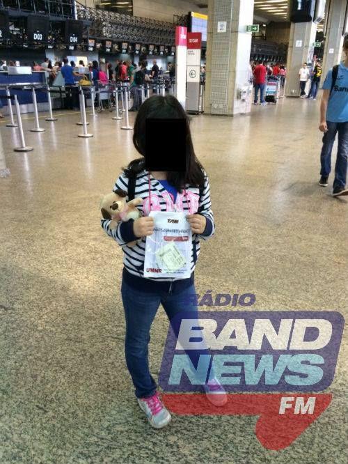 A empresa se comprometeu com os pais a encaminhar a garota até a poltrona da aeronave / Foto: BandNews FM