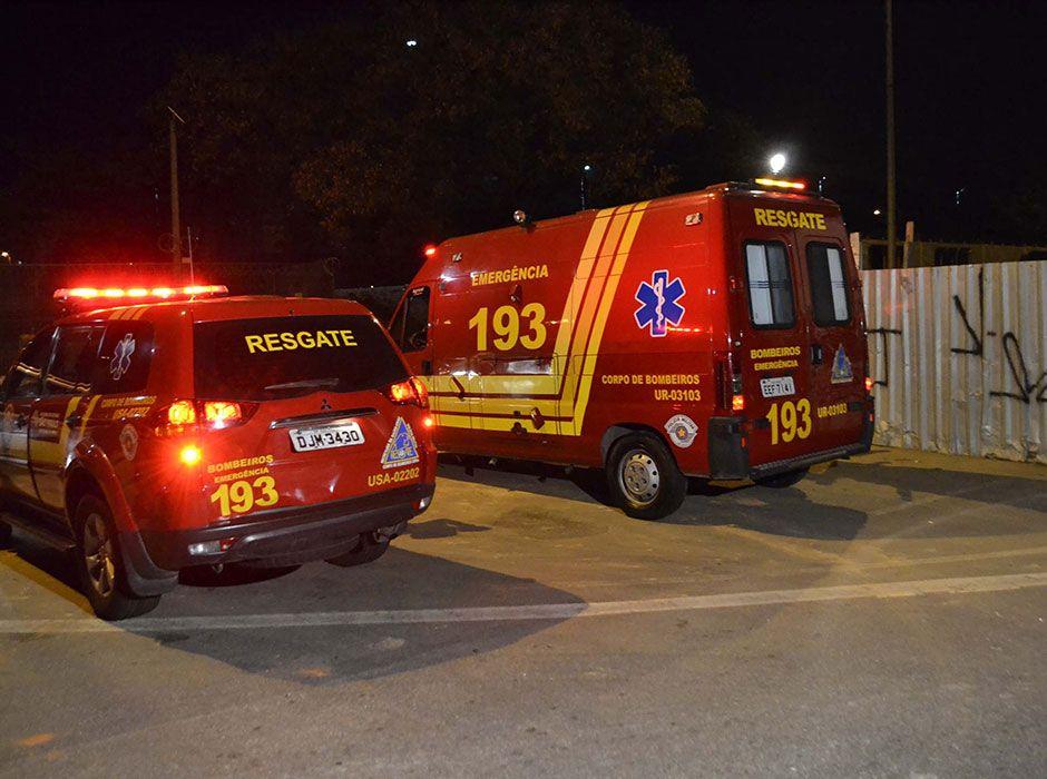 Segundo o Corpo de Bombeiros, a vítima é um homem de 50 anos / Edu Silva/Futura Press/Folhapress