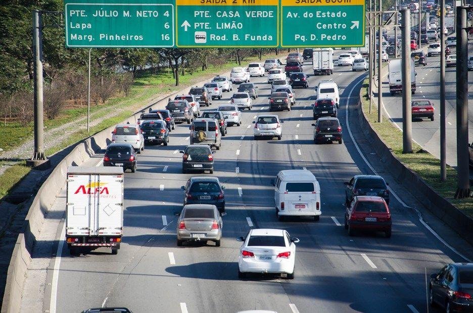 Limite de velocidade na Marginal Tietê caiu nesta segunda-feira / Rogerio Cavalheiro/Futura Press/Folhapress