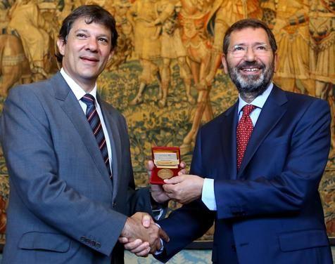 Ignazio Marino recebe prefeito de São Paulo / Ansa