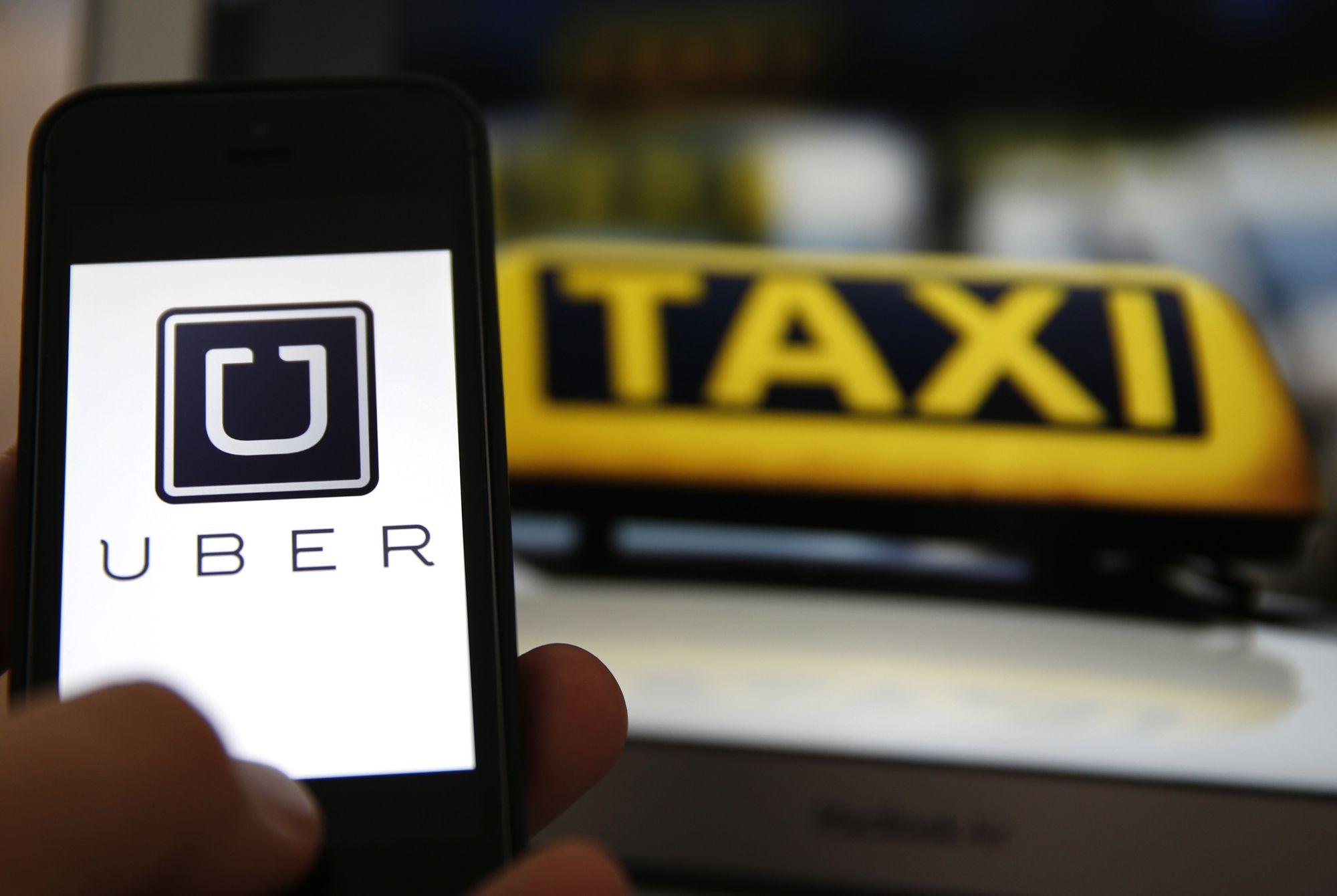 Taxistas estavam protestando contra o aplicativo / Reprodução/Internet