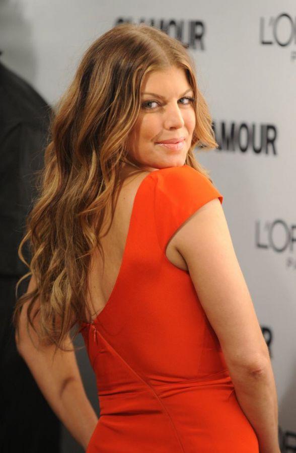 Fergie durante a premiação da revista Glamour