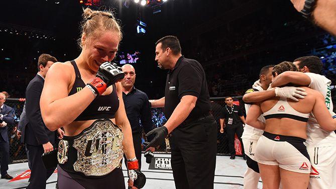 Em português, a americana agradeceu o carinho do público brasileiro / UFC/Divulgação