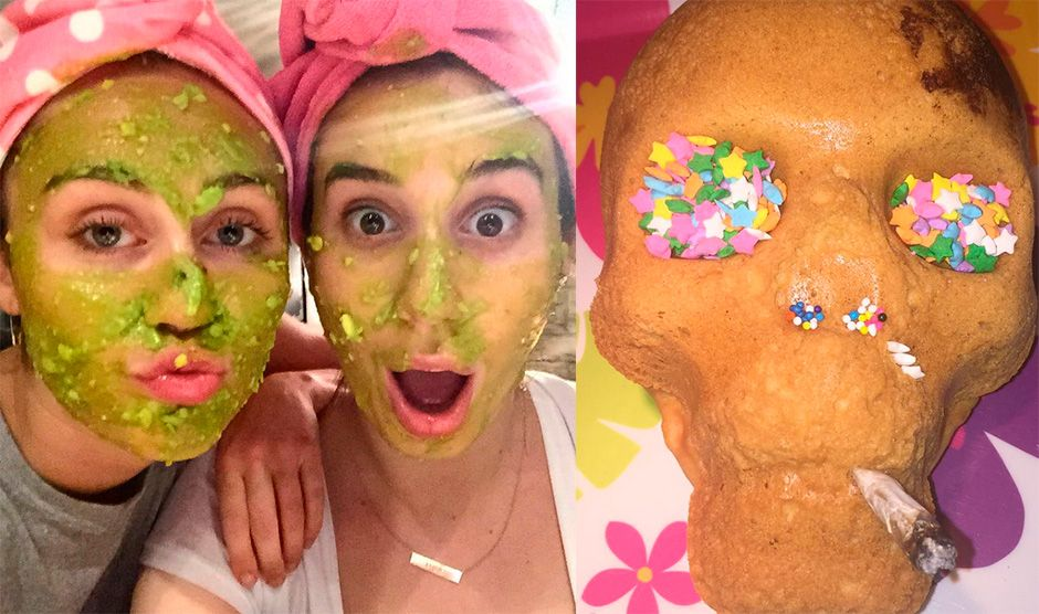 Miley Cyrus fez hidratação de abacate e comeu bolo suspeito / Divulgação/Instagram