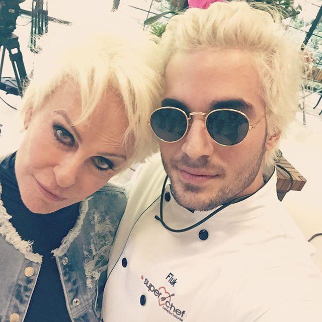 Ana Maria Braga e Fiuk com mesmo penteado / Divulgação/Instagram