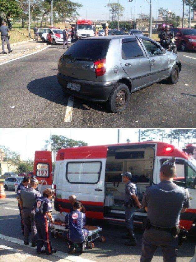 Condutor foi socorrido ao hospital sob a guarda da Polícia Militar / Débora Mendonça/SulAméria Trânsito
