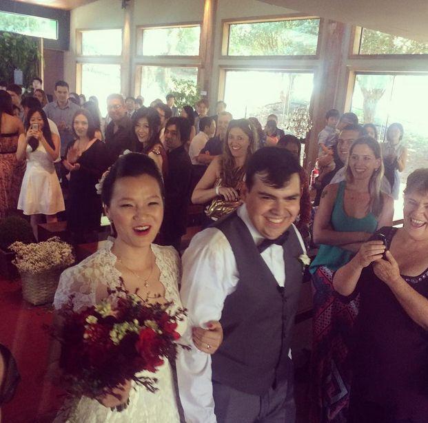 Jiang Pu se casa em SP com Ricardo Matioli