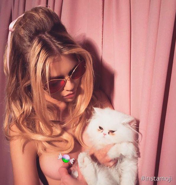 Stella Maxwell cobriu seu mamilo na foto / Divulgação/Instagram
