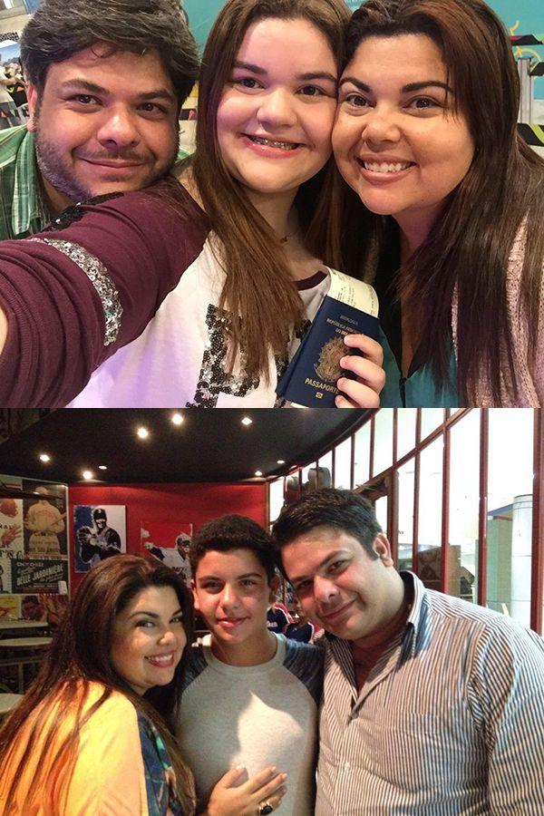 Fabiana Karla em fotos com o ex-marido e os filhos / Divulgação/Facebook