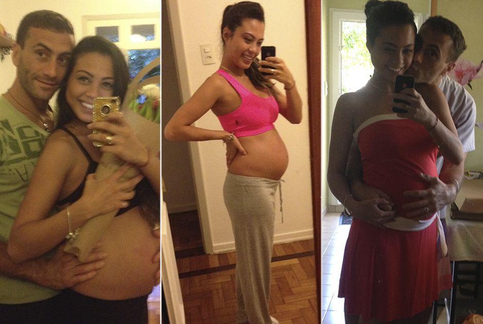 Grávida de oito meses, Sabrina ainda não escolheu nome do bebê