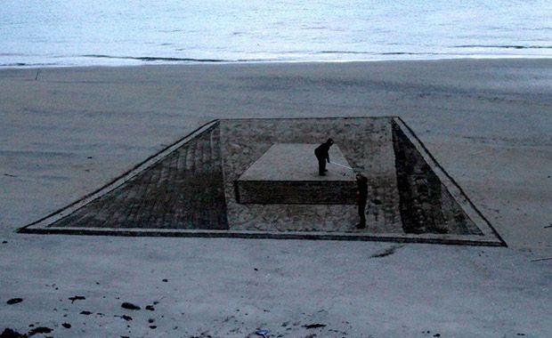 3D praia