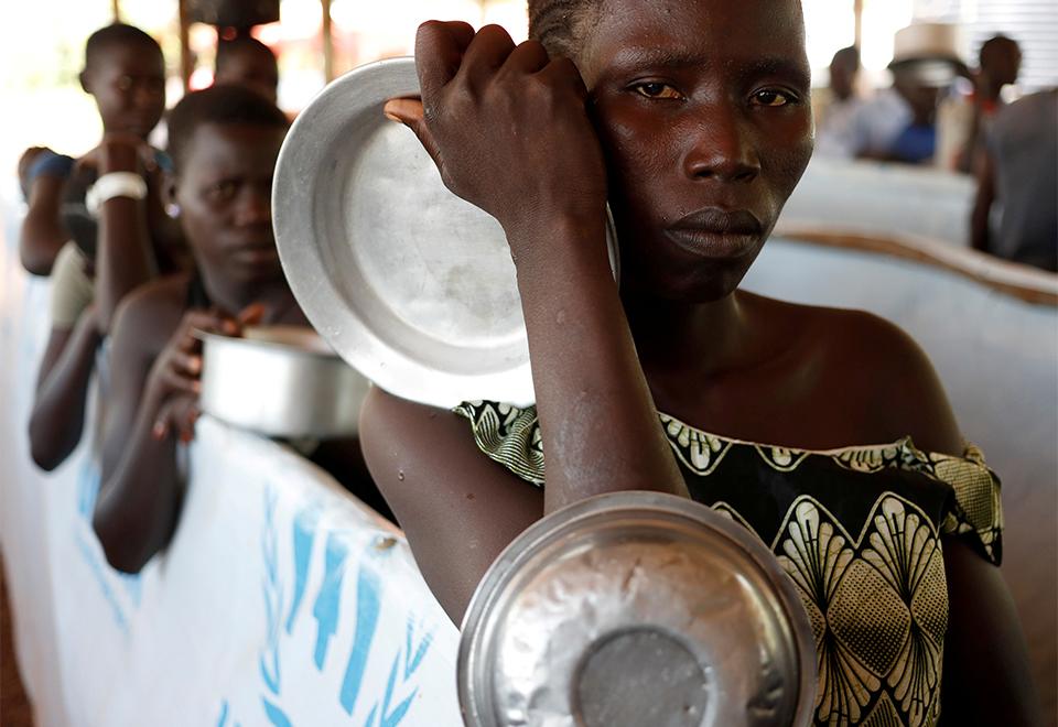 Refugiados do Sudão do Sul se alojam em Uganda