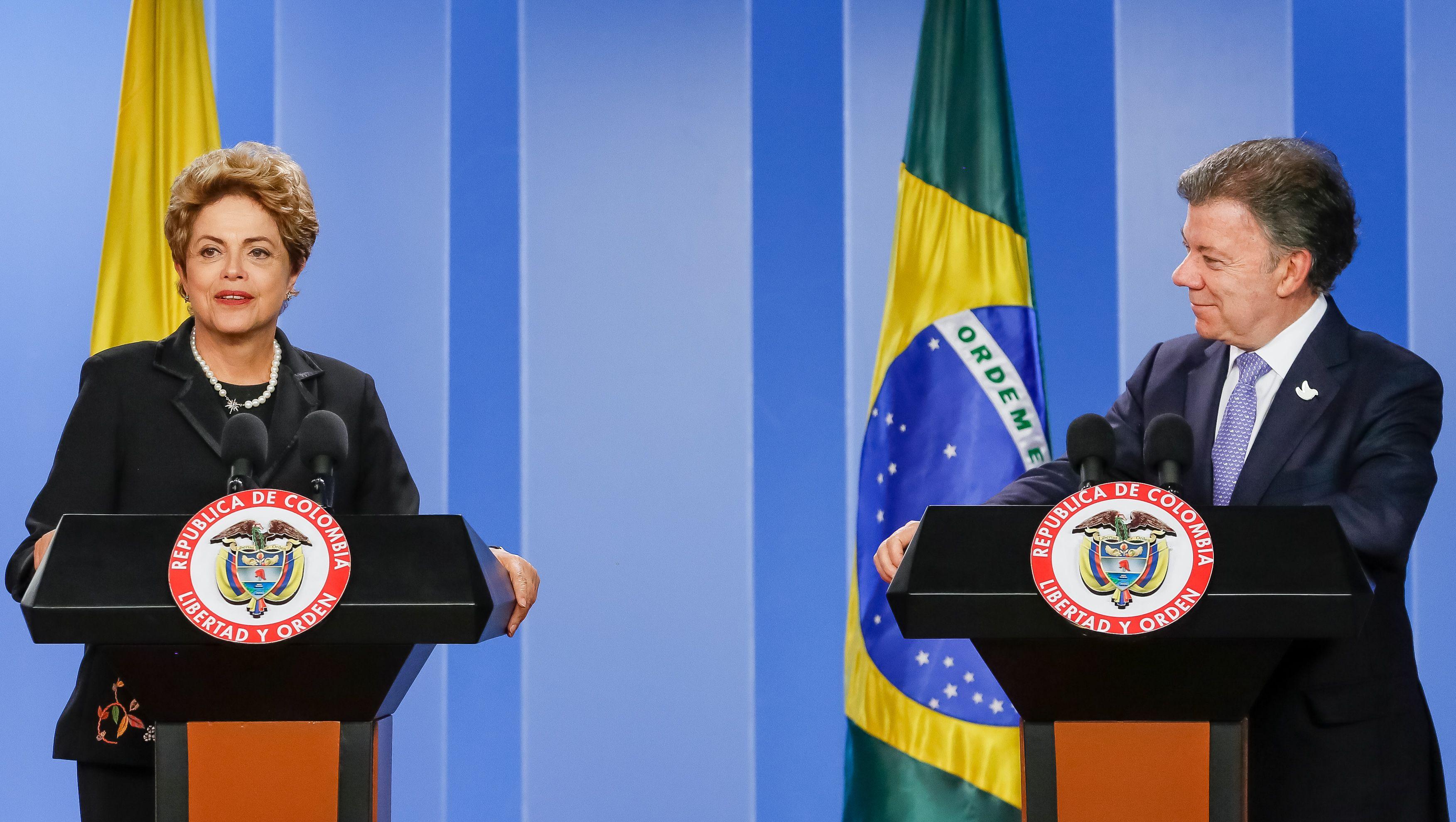 Dilma se encontra com o presidente da Colômbia, Juan Manuel Santos, em Bogotá / Roberto Stuckert Filho/PR