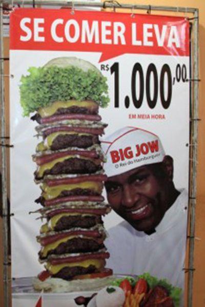 Lanchonete paga R$ 1 mil para quem comer lanche
