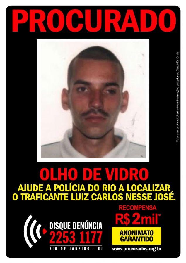 Traficante conhecido como Olho de Vidro era um dos chefes do tráfico no Morro da Mangueirinha, em Caxias