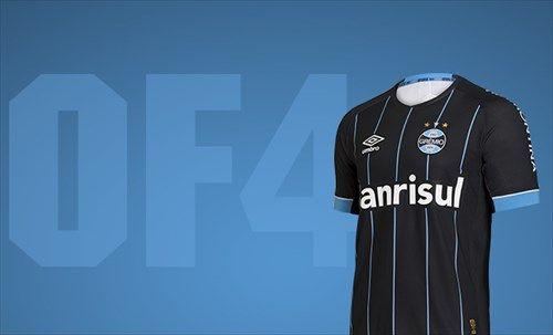 A nova camisa do Grêmio foi lançada hoje (Foto  Divulgação Grêmio) 2b2f1ade24314