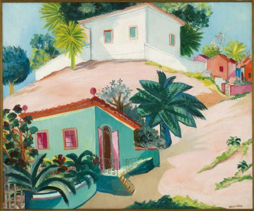 Paisagem de Olinda, de Cícero Dias, é uma das obras que compõe a exposição até dia 15 / Foto: Divulgação