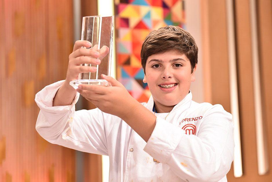 Lorenzo é o primeiro vencedor do MasterChef Júnior