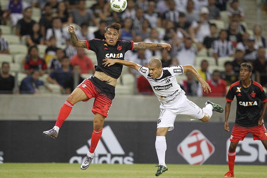 Guerrero desperdiçou o último pênalti e deu a taça ao Ceará (Foto   Divulgação CR Flamengo) e5ce3222d02d1