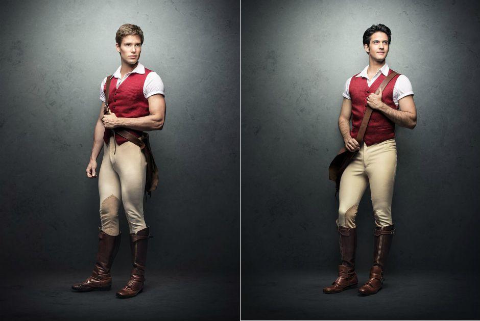 Príncipe Fiyero será interpretado por Jonatas Faro (esq.) e André Loddi