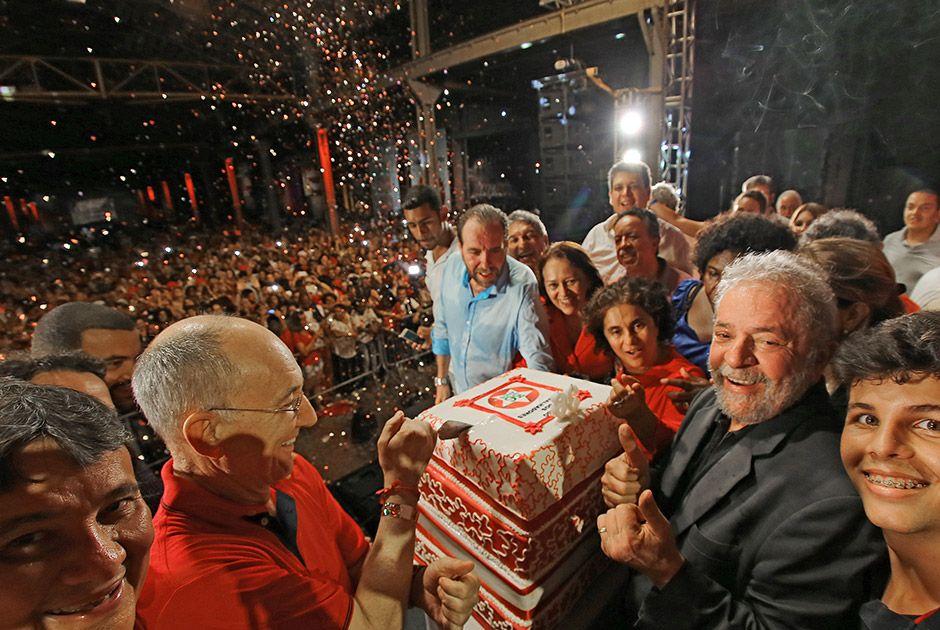 Lula foi o grande homenageado da festa de 36 anos do PT / Ricardo Stuckert/Instituto Lula